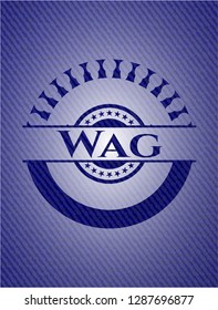 Wag with denim texture