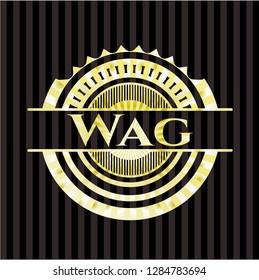 Wag gold shiny badge