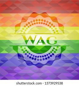 Wag lgbt colors emblem