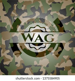 Wag on camouflage texture