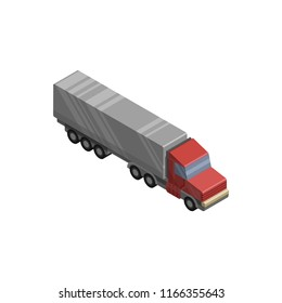 waggon truck isometric vector icon