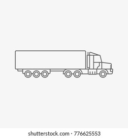waggon truck vector icon