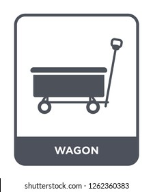 wagon icon vector on white background, wagon trendy filled icons from Transportation collection, wagon simple element illustration
