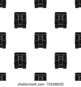 Wagon, single icon in black style.Wagon vector symbol stock illustration web.