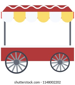 Wagon Vector Illustration Icon