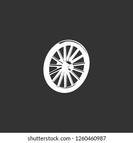 wagon wheel icon vector. wagon wheel sign on black background. wagon wheel icon for web and app
