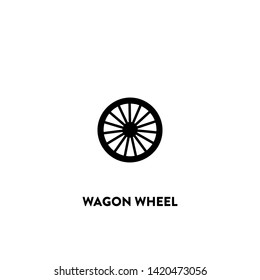 wagon wheel icon vector. wagon wheel sign on white background. wagon wheel icon for web and app