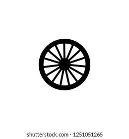 wagon wheel vector icon. wagon wheel sign on white background. wagon wheel icon for web and app