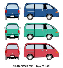 wagoon car transportation vector image design for illustration