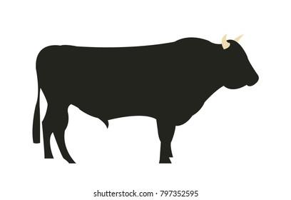 Wagyu Chilean bull cattle silhouette
