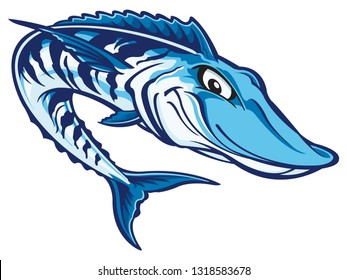 Wahoo fish cartoon