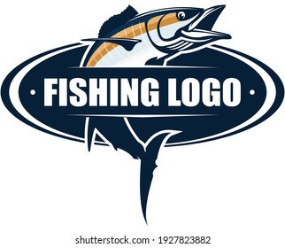 Wahoo Fishing Logo, new And Fresh Wahoo fish jumping out of the water. Great to use as your saltwater Fishing Activity