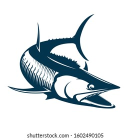 Wahoo Logo Template, Great wahoo fish Vector, for Decal boat wrap, t shirts, saltwater fishing logo