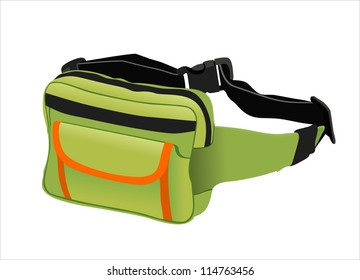 waist pouch isolated on white background.