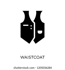 Waistcoat icon. Waistcoat symbol design from Clothes collection. Simple element vector illustration on white background.