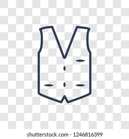 Waistcoat icon. Trendy linear Waistcoat logo concept on transparent background from Clothes collection