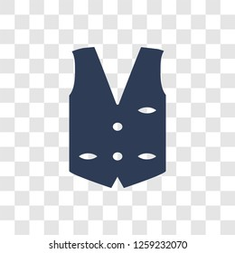 Waistcoat icon. Trendy Waistcoat logo concept on transparent background from Clothes collection