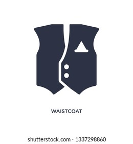 waistcoat isolated icon. Simple element illustration from clothes concept. waistcoat editable logo symbol design on white background. Can be use for web and mobile.