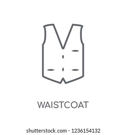 Waistcoat linear icon. Modern outline Waistcoat logo concept on white background from Clothes collection. Suitable for use on web apps, mobile apps and print media.