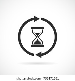 Wait timer web vector pictogram illustration isolated on white background