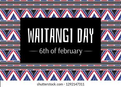 Waitangi day background vector. 6 February. New Zealand holiday festival. Maori history.