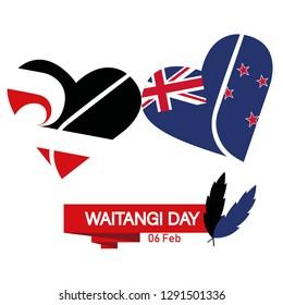waitangi day vector