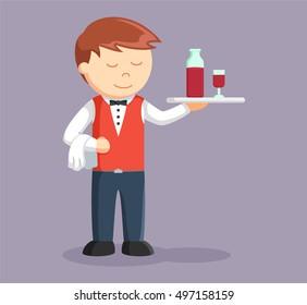 waiter being serving drink