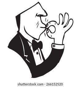 Waiter Symbol Doodle