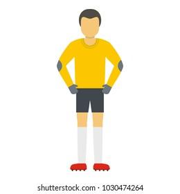 Waiting goalkeeper icon. Flat illustration of waiting goalkeeper vector icon for web