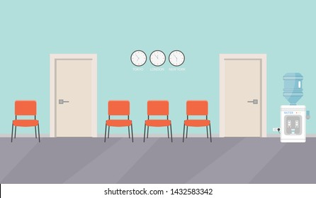 Excellent White Wall Blue Chair Stock Vectors Images Vector Art Pabps2019 Chair Design Images Pabps2019Com