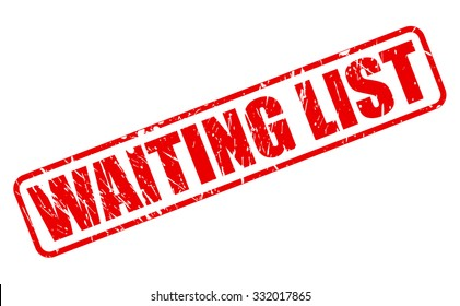 WAITING LIST red stamp text on white