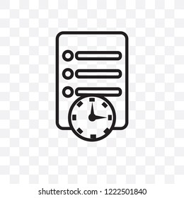 Waiting list vector linear icon isolated on transparent background, Waiting list transparency concept can be used for web and mobile
