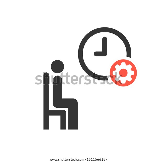 Waiting Room Icon Settings Sign Customize Stock Vector