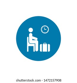 Waiting room icon. symbol for your web site design. Vector illustration, EPS10.