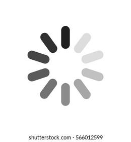 Waiting symbol, vector icon