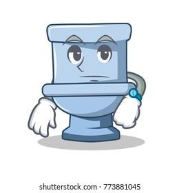 Waiting toilet character cartoon style