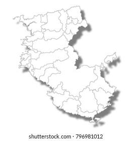 Wakayama Prefecture Map white icon