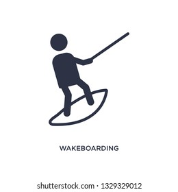 wakeboarding icon. Simple element illustration from free time concept. wakeboarding editable symbol design on white background. Can be use for web and mobile.