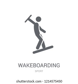wakeboarding icon. Trendy wakeboarding logo concept on white background from Sport collection. Suitable for use on web apps, mobile apps and print media.