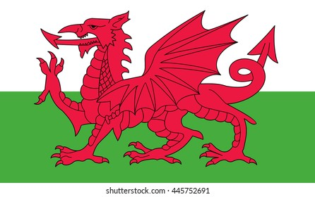 Wales flag vector illustration