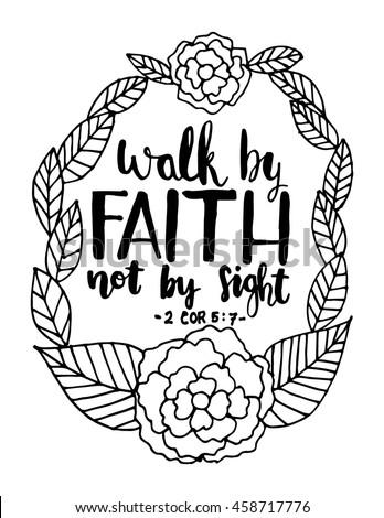 Walk By Faith Not By Sight Stock Vektorgrafik Lizenzfrei 458717776
