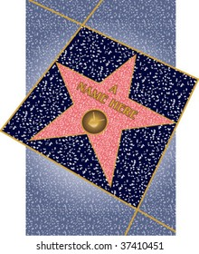 Walk of Fame star, TV, in perspective
