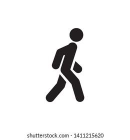 Walk icon symbol vector. on white background
