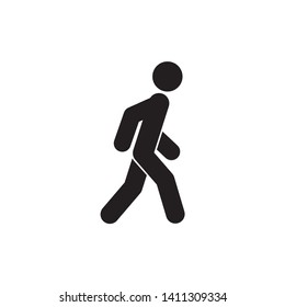 Walk icon symbol vector. on white background