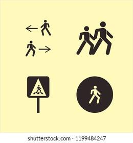 walk icon. walk vector icons set pedestrian sign, man walk, pedestrian and pedestrian people