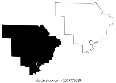 Walker County, Alabama (Counties in Alabama, United States of America,USA, U.S., US) map vector illustration, scribble sketch Walker map