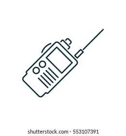 Walkie isolated line icon on white background