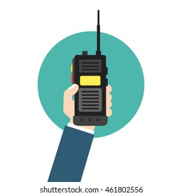 walkie talkie icon. police radio online