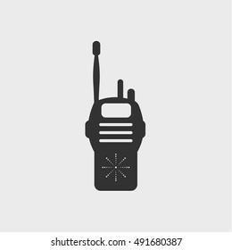 walkie talkie icon, vector design