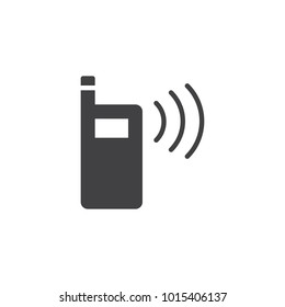 Walkie talkie icon vector, filled flat sign, solid pictogram isolated on white. Portable radio transmitter symbol, logo illustration.